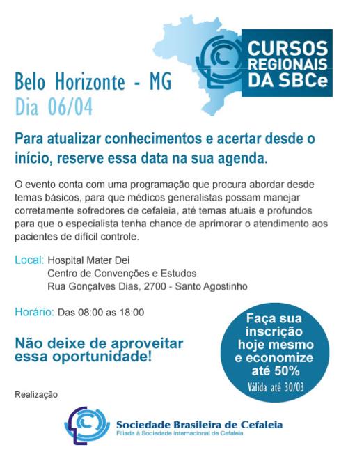 Curso regional Sociedade Brasileira de Cefaleia